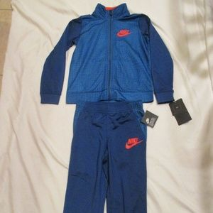 Nike Boys Tracksuit 2 Piece Blue Red 86E632-C3M